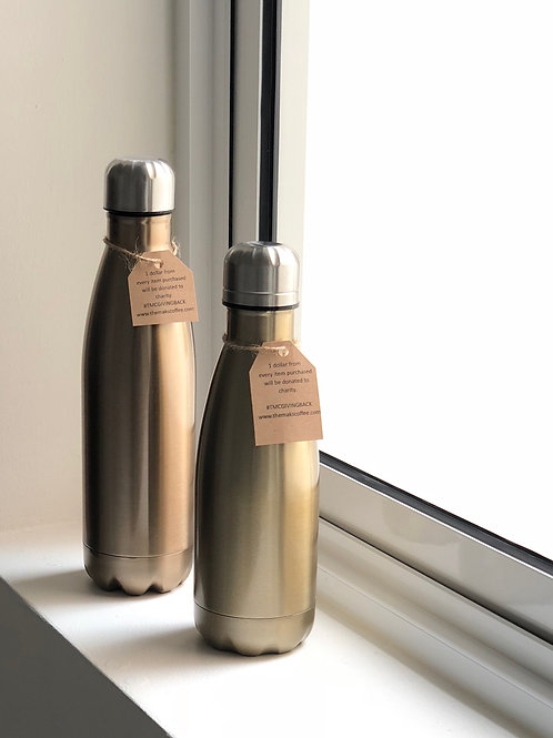 Gold Stainless Steel Bottle (2 sizes available)