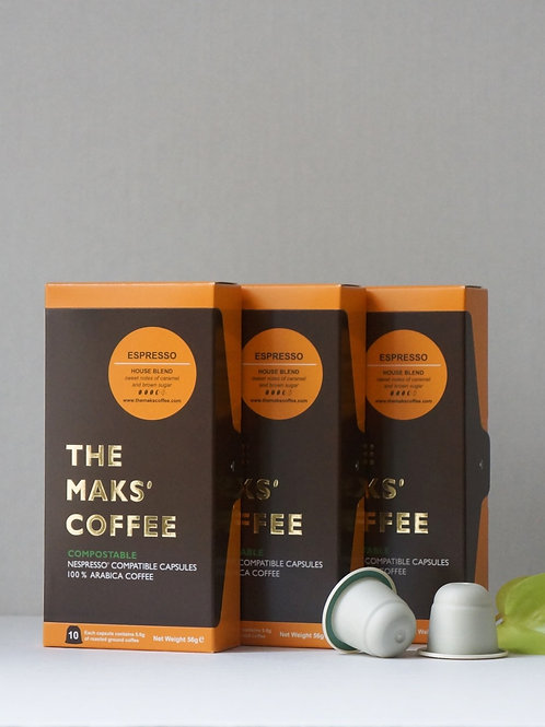 MAKSPRESSO TRIO - Compostable Coffee Capsules