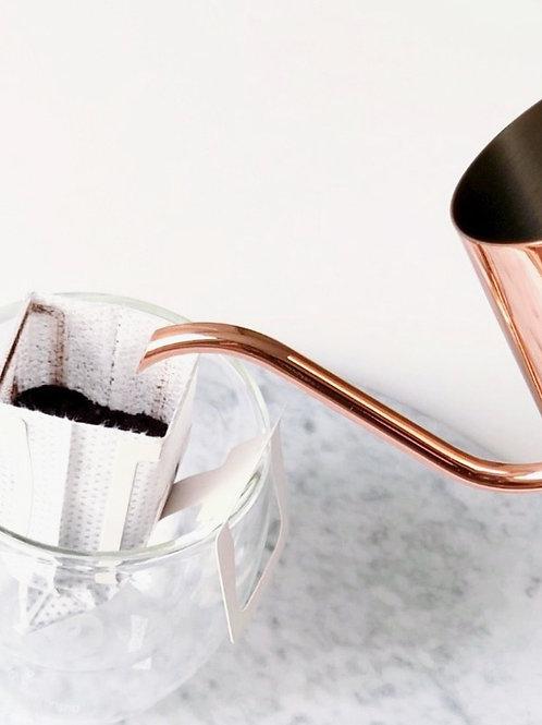Rose Gold Drip Pot