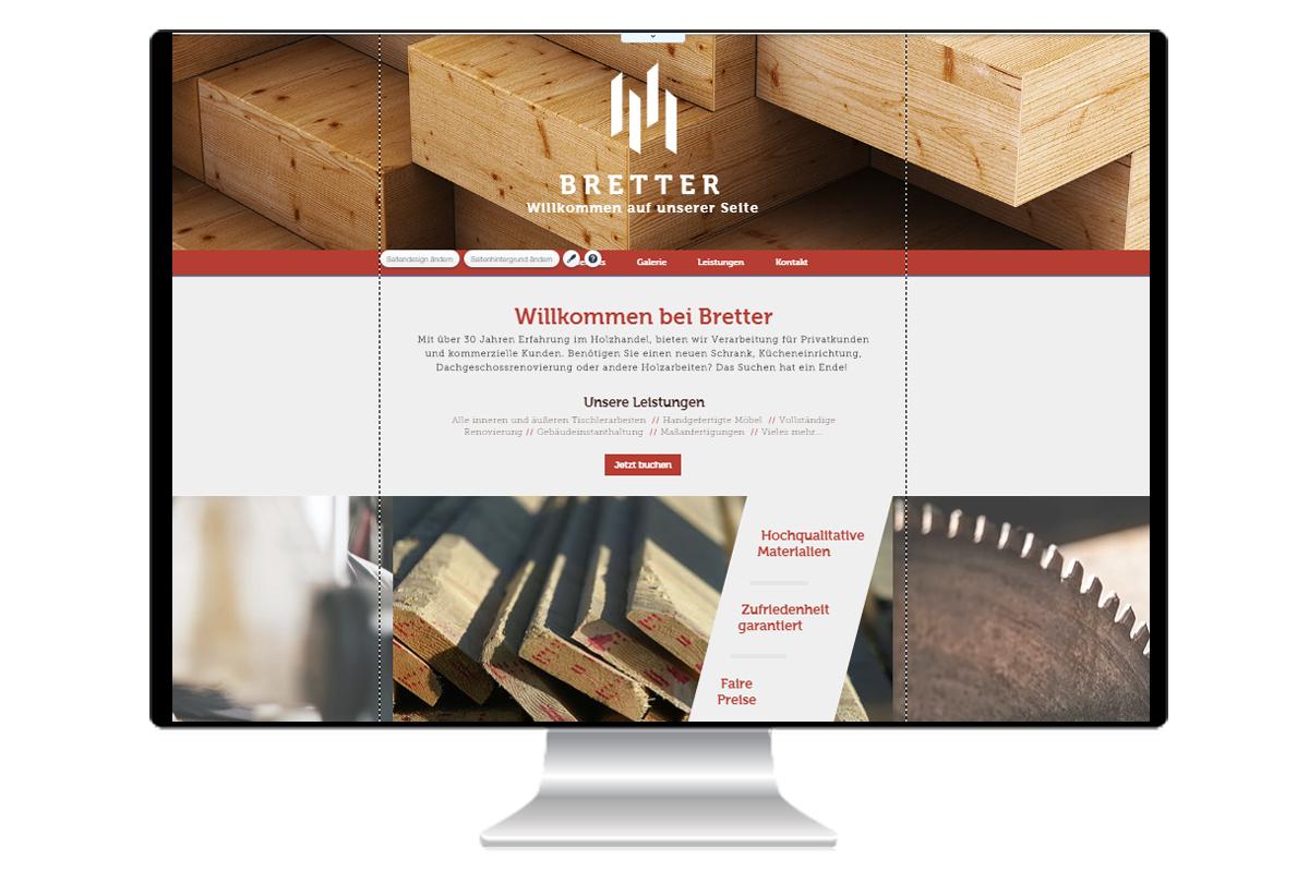 Beispiel Webseite Tischler