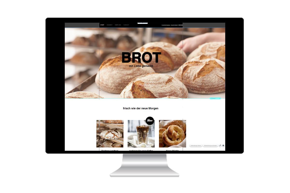 Beispiel Webseite Bäcker