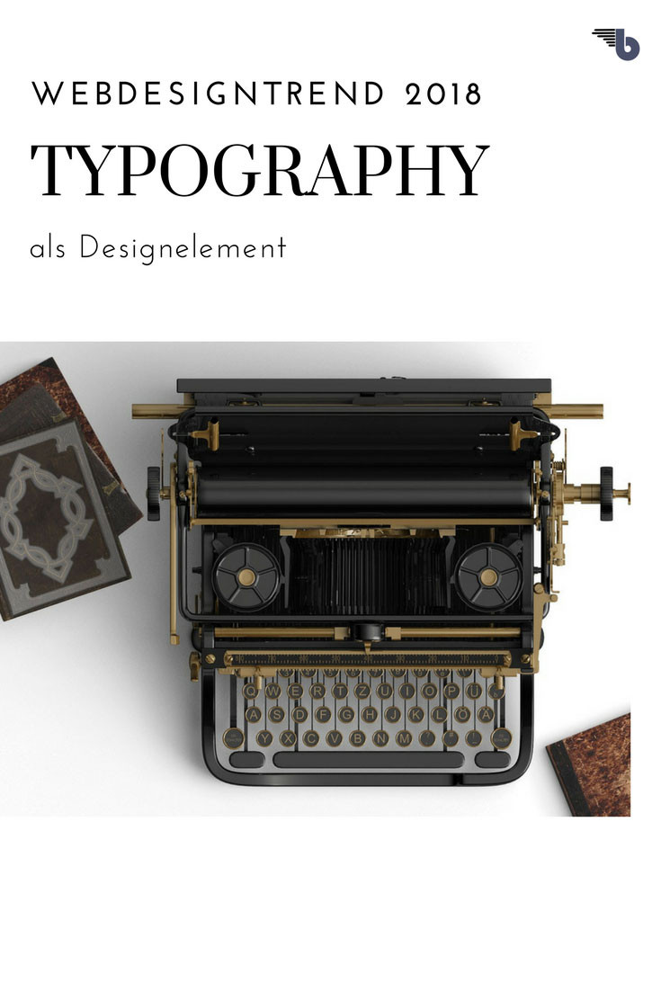 Webdesigntrend 2018 typography als design element