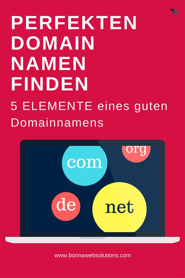 5 Elemente zum Guten Domainnamen