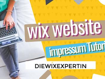 Wix Website Impressum | wie erstelle ich ein Impressum für meine Wix Homepage
