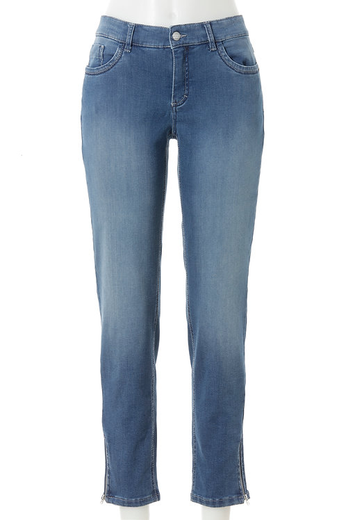 Shaping Jeans POWER – ZIP – bleached Denim / Power Stretch