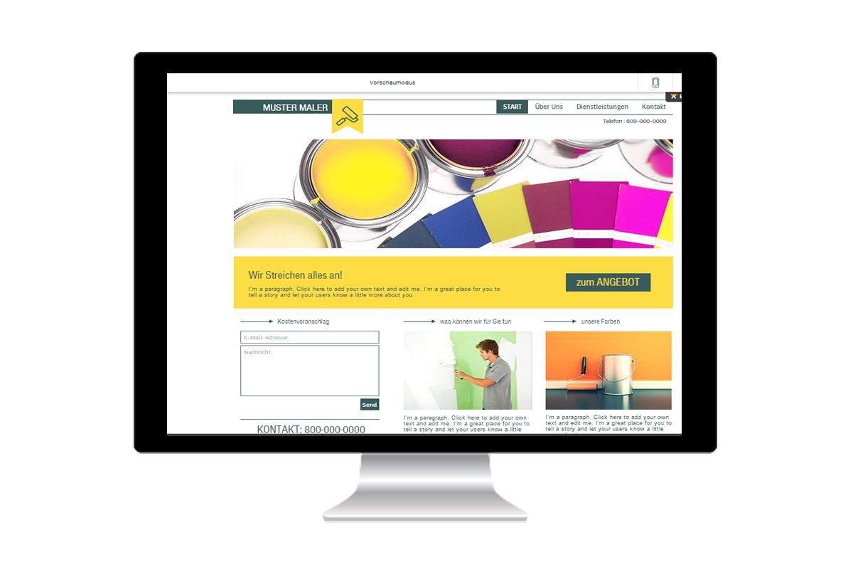Beispiel Webseite Maler
