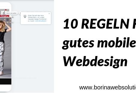 10 einfache Grundregeln für ein gutes mobiles Webdesign