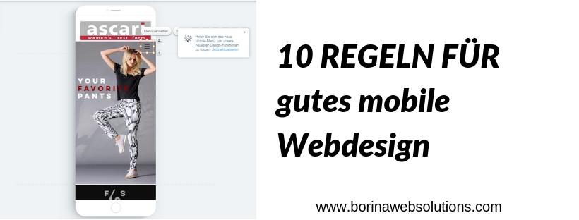 10 einfache Regeln für eine gute mobile Webseite