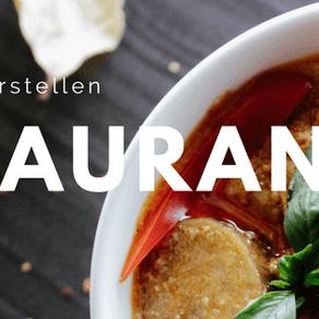 Restaurant Website erstellen