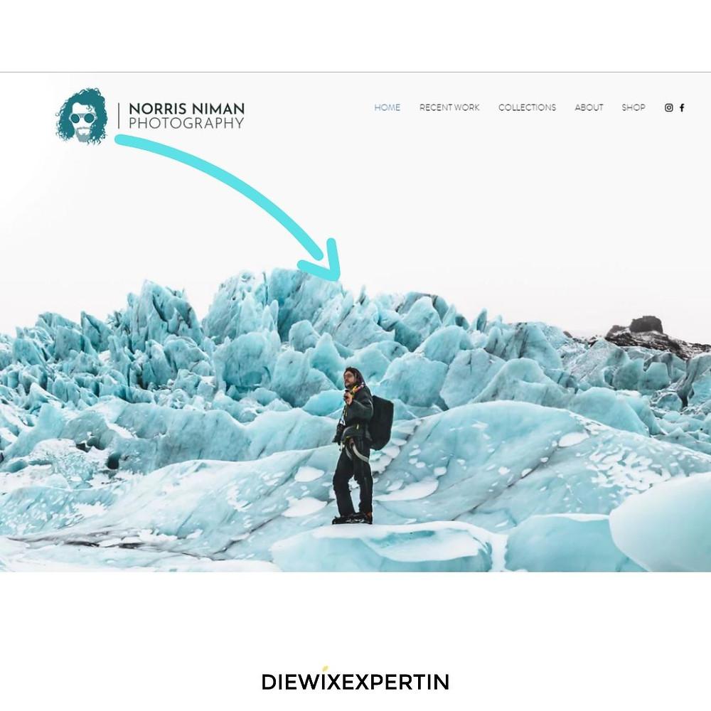 Wix Webseite Beispiel Fotografen Webseite