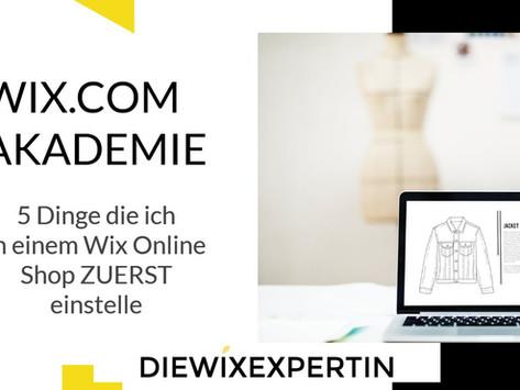 Wix Online Shop | 5 Einstellungen, die ich immer zuerst definiere bevor ich den Wix Store designe