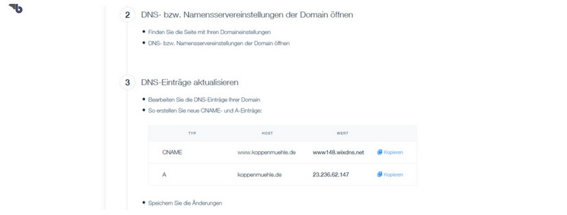 strato Domain und wix.com