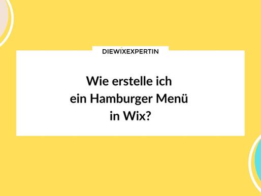 Wie erstelle ich ein Hamburger Menü in Wix?