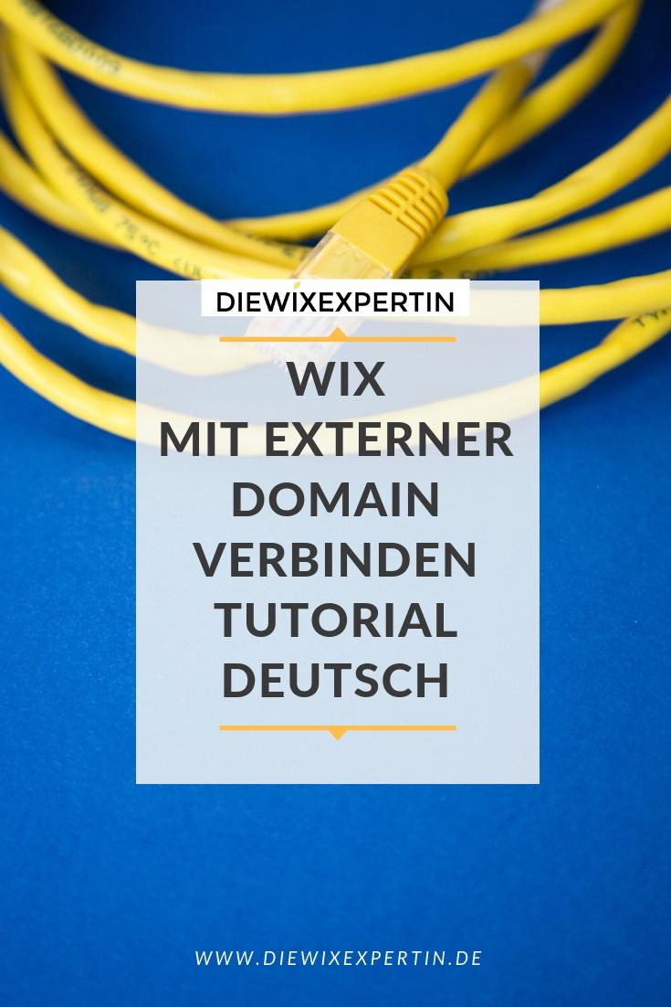wie verbinde ich eine  Domain mit meiner Wix Homepage