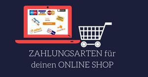 Übersicht Zahlungsarten Onlineshop Webbaukasten
