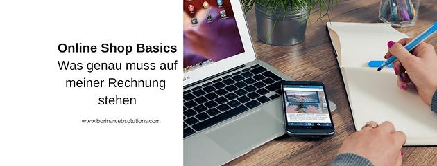 Onlineshop Basics Rechnung Webseiten Coaching Baden Württemberg