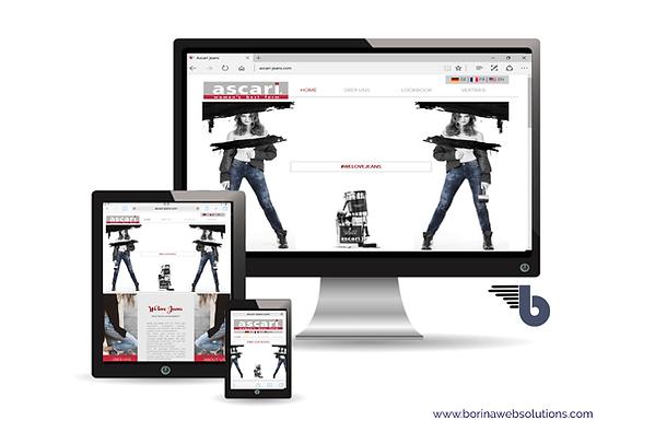 Webseite Ascari Jeans