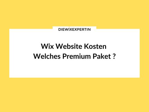 Wix Website Kosten | Welches Premium Paket brauche ich