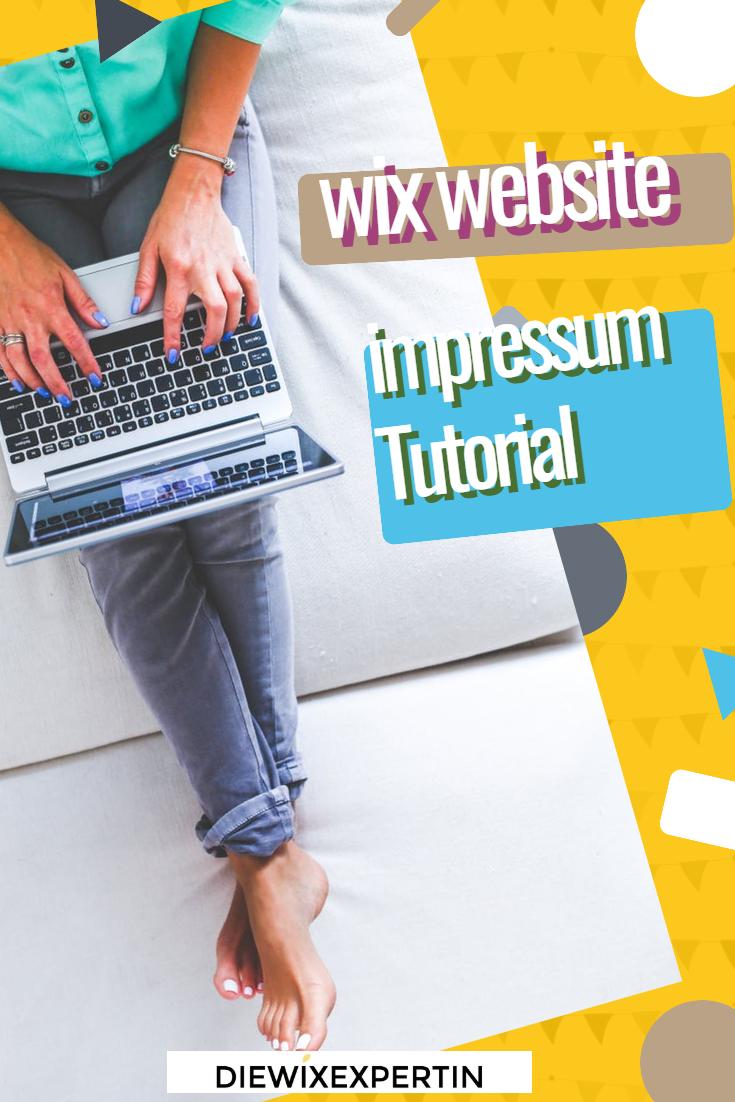 Wix Website Impressum erstellten