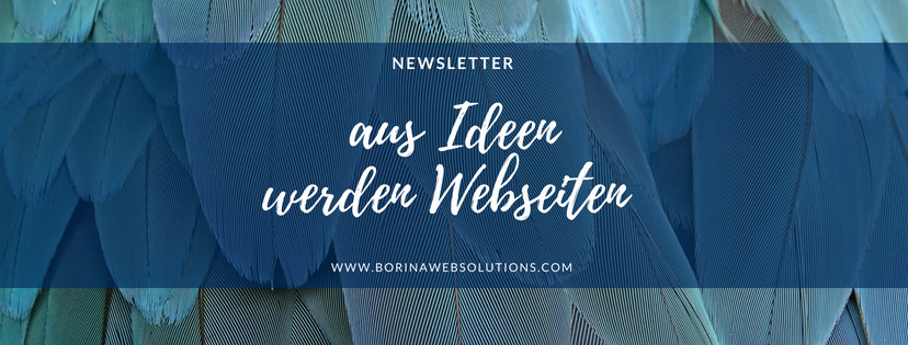 Newsletter Borinawebsolutions abonnieren