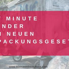 Last Minute Reminder und deine Pflichten als Onlineshopbetreiber mit dem neuen Verpackungsgesetz