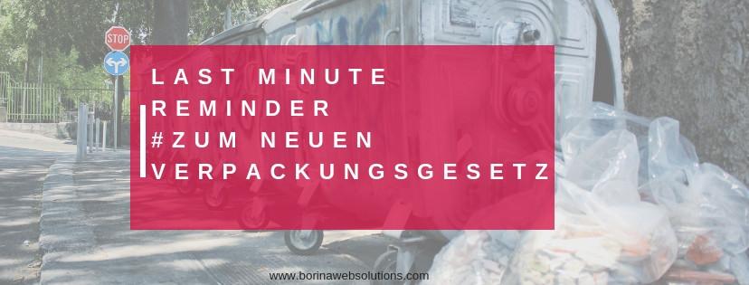 was muss ich als onlineshop beim verpackungsgesetz beachten