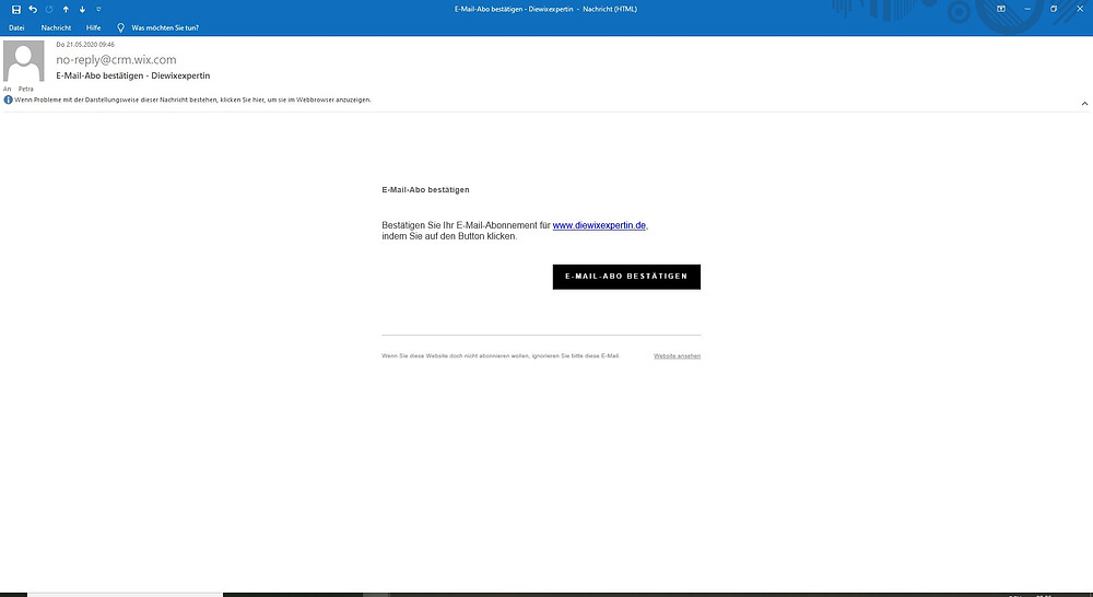 wix doi, wix double opt in, wix doi confirmation email