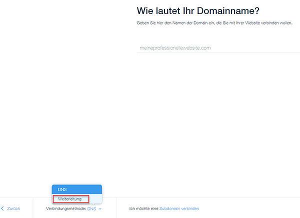 externe domain mit wix via weiterleitung