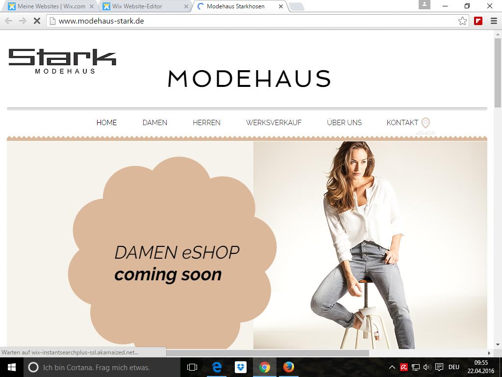 Homepage Modehaus Stark Obersonnthei