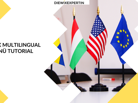Wix multilinguales Menü Tutorial