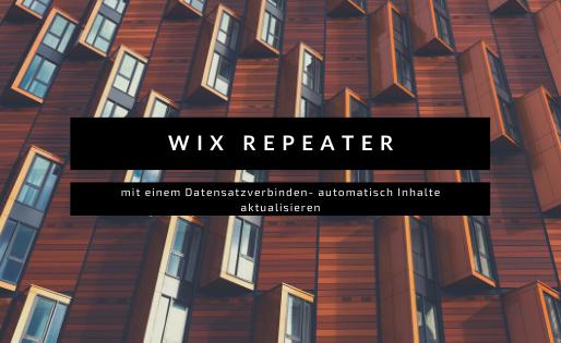 Wix Repeater, einmal erstellt immer wieder mit neuen Inhalt automatisch aktualisiert