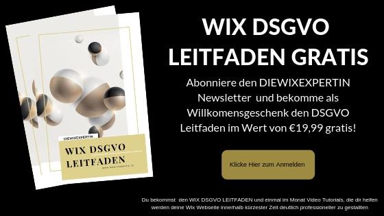 Gratis Leitfaden WIX DSGVO