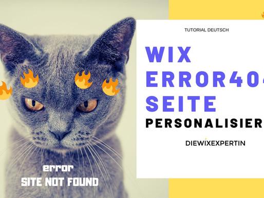 Wix Error 404 Seite personalisieren