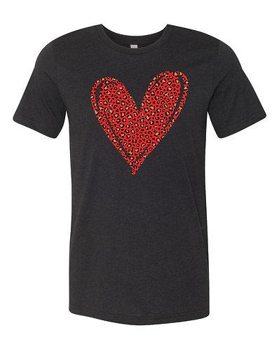 Red Leopard Heart Shirt