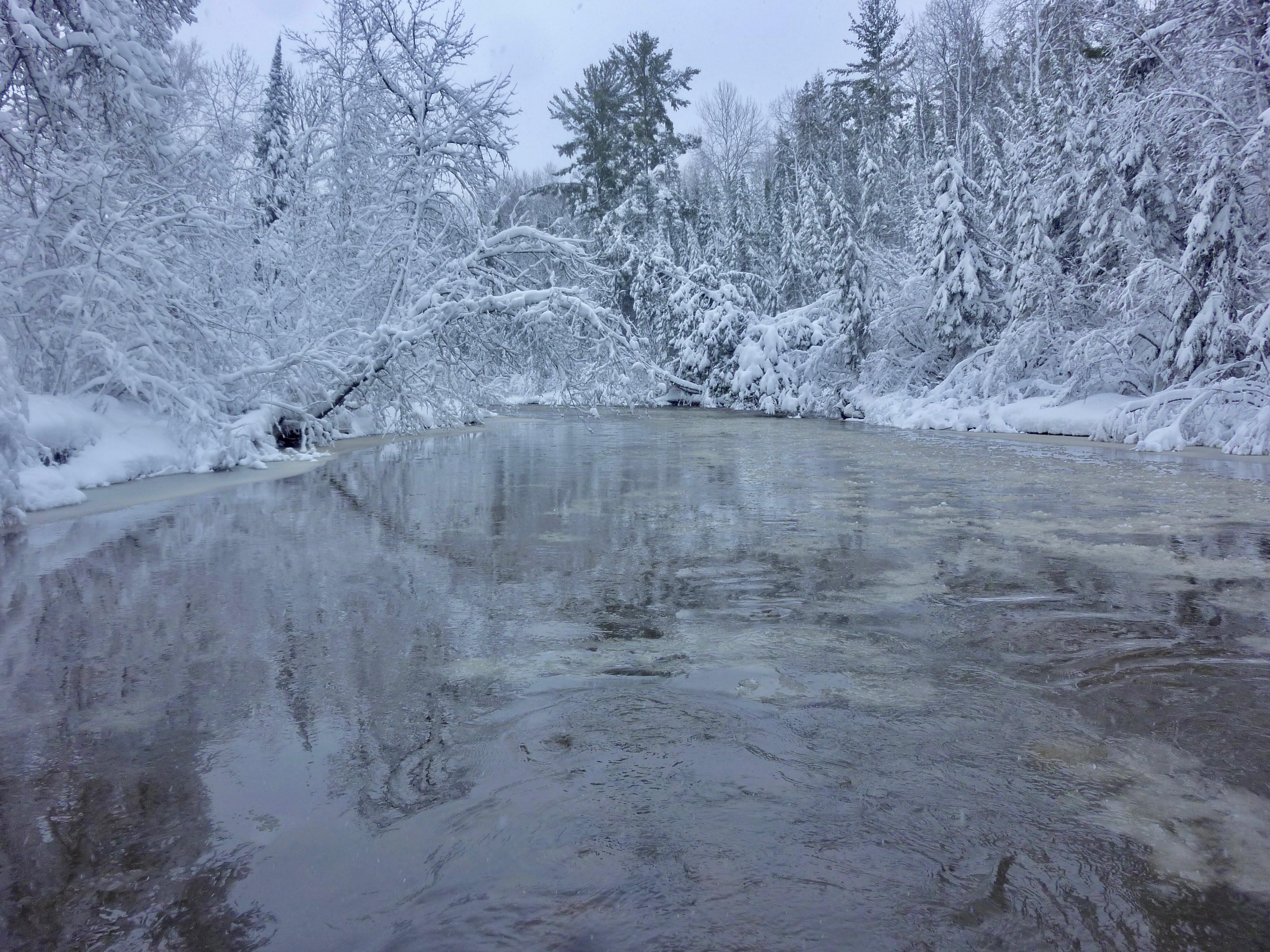 Brule River In Winter