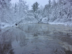 Brule River In Winter