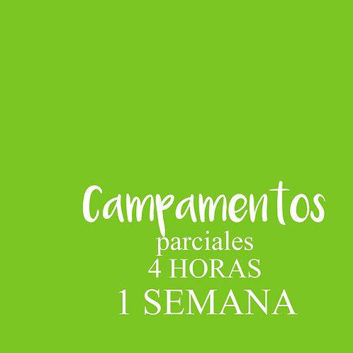 CAMPAMENTO parcial 4 HORAS / 1 SEMANA