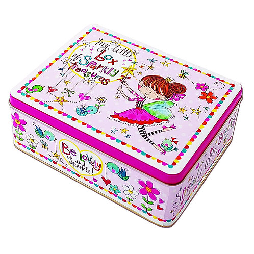 CAJA DE LATA RECTANGULAR MY LITTLE BOX OF SPARKLY TREASURES RACHEL ELLEN