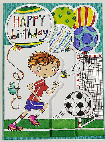 Tarjeta Felicitación Happy Birthday Rachel Ellen Designs - Footballer