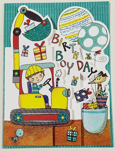 Tarjeta Felicitación Happy Birthday Rachel Ellen Designs - Bulldozer