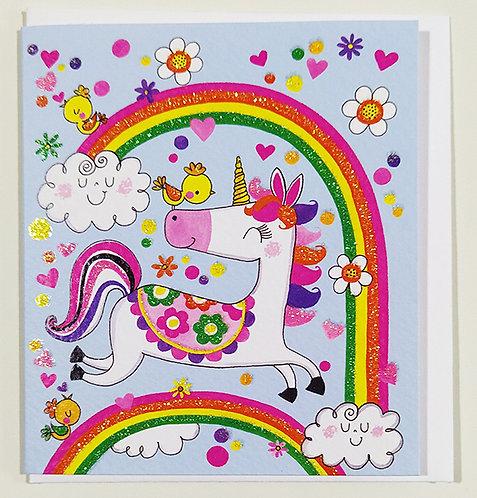 Mini Tarjeta Felicitación Rachel Ellen Designs - Unicorn