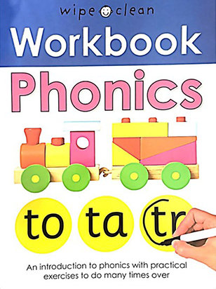 PHONICS: WIPE AND CLEAN WORKBOOK- Inglés