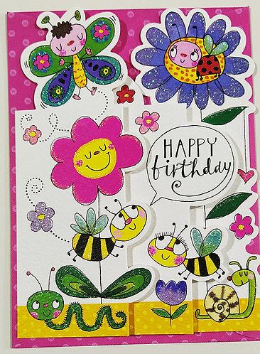 Tarjeta Felicitación Happy Birthday Rachel Ellen Designs - Insects