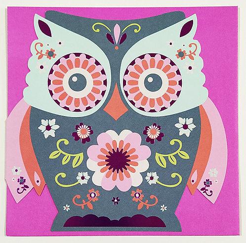 Tarjeta Felicitación George - Owl