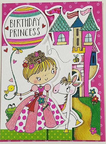 Tarjeta Felicitación Happy Birthday Rachel Ellen Designs - Princess