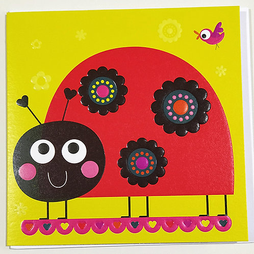 Tarjeta Felicitación Happy Birthday Little Creatures - Lady Bird