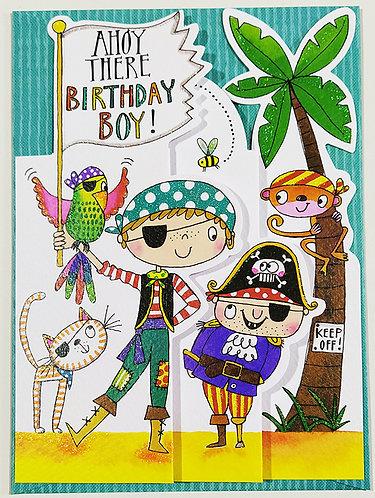 Tarjeta Felicitación Happy Birthday Rachel Ellen Designs - Pirates