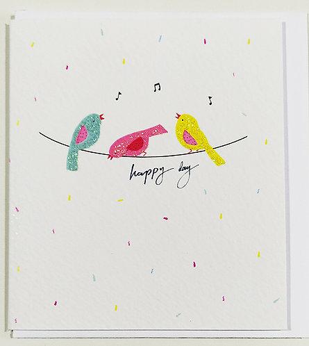 Mini Tarjeta Felicitación Rachel Ellen Designs - Birds