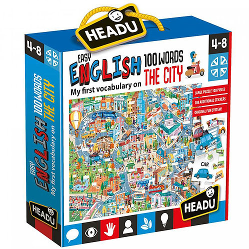 EASY ENGLISH 100 WORDS THE CITY PUZZLE