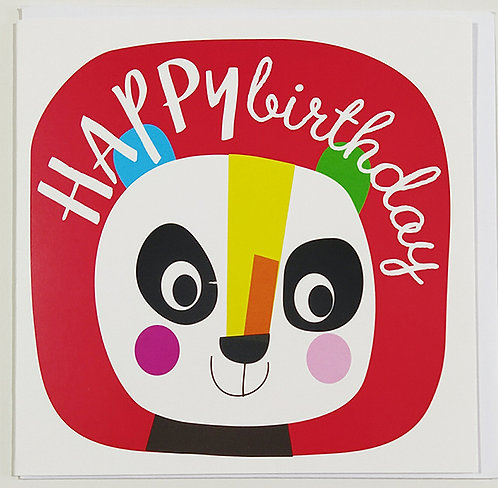 Tarjeta Felicitación Happy Birthday Little Creatures - Panda